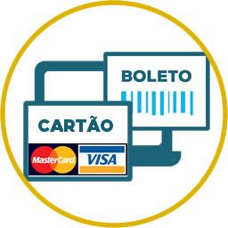 Receber pagamentos por boleto e cartão em loja online