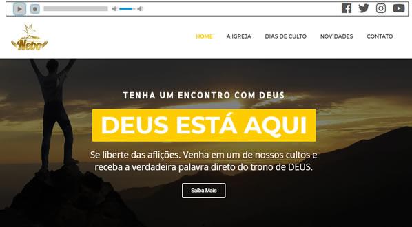 Imagens da primeira pagina do site ADNEBO criado por nós da SizeWeb