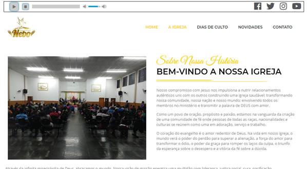 Imagens da segunda pagina do site ADNEBO criado por nós da SizeWeb