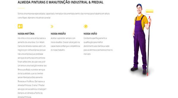 imagem da segunda pagina do site da Almeida Pinturas criado por nós da sizeweb