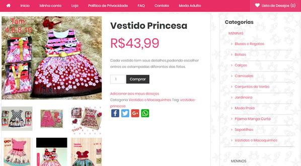 imagem da terceira pagina da loja Arco-Iris Moda Infantil criada por nós da SizeWeb