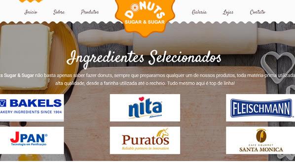 imagem da terceira pagina do site da Donuts Sugar & Sugar criado por nós da sizeweb