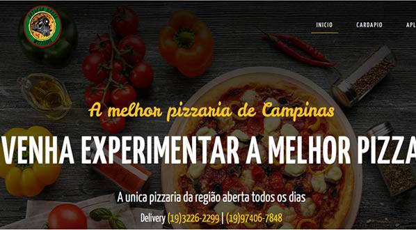 imagem da primeira pagina do site Estação Moria Pizzaria criado por nós da SizeWeb