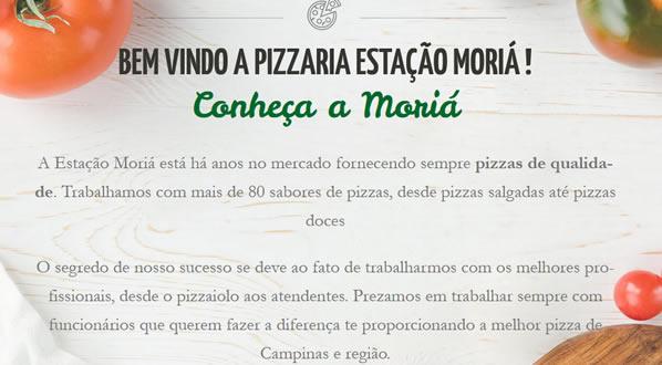 imagem da segunda pagina do site Estação Moria Pizzaria criado por nós da SizeWeb