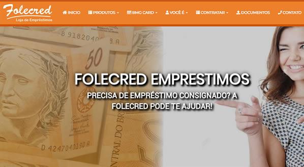 imagem da primeira pagina do site Folecred criado por nós da SizeWeb