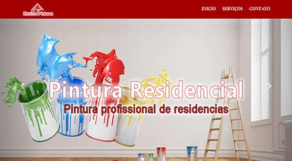 imagem da primeira pagina do site da martins pintura criado por nós da sizeweb