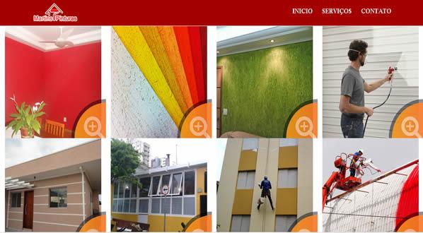 imagem da terceira pagina do site da martins pintura criado por nós da sizeweb