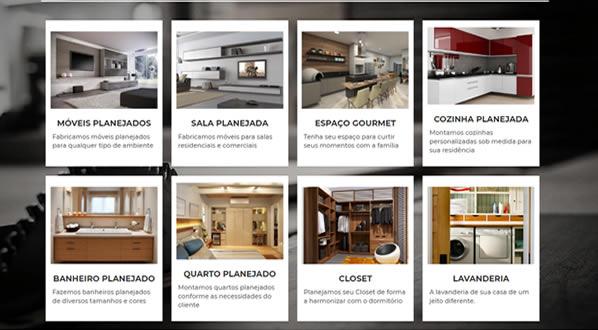imagem da segunda pagina do site Mobilly Marcenaria criado por nós da SizeWeb