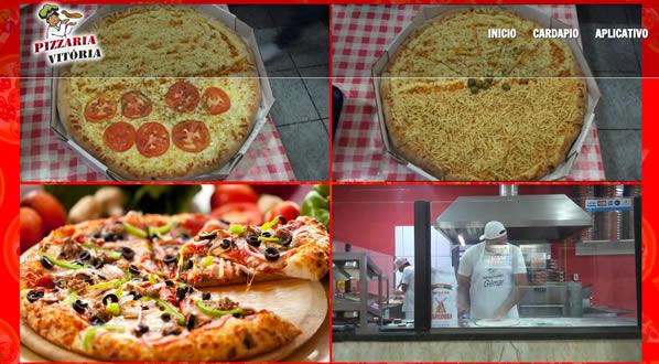 imagem da segunda pagina do site Pizzaria Vitória criado por nós da SizeWeb
