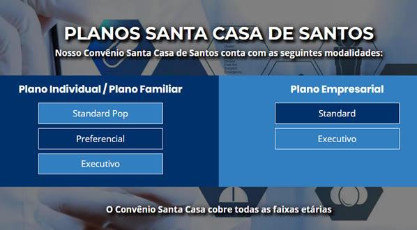 imagem da segunda pagina do site Plano Santa Casa de Santos criado por nós da SizeWeb
