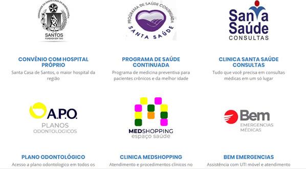 imagem da terceira pagina do site Plano Santa Casa de Santos criado por nós da SizeWeb