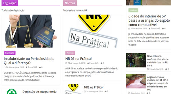 imagem da terceira pagina do site Ponto SMS criado por nós da SizeWeb