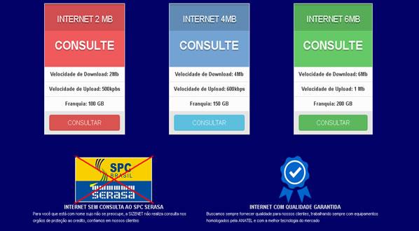 imagem da terceira pagina do site da SizeNet criado por nós da sizeweb
