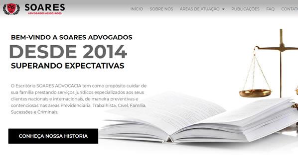 imagem da segunda pagina do site Soares Advogados Associados criado por nós da SizeWeb