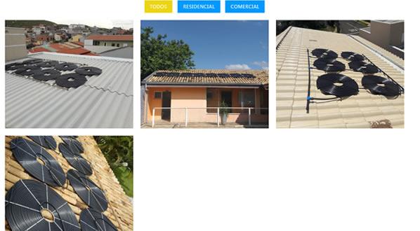 imagem da primeira pagina do site Summer Aquecedores criado por nós da SizeWeb