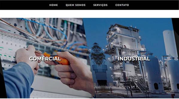 Imagens da terceira pagina do site MEGAVOLTS criado por nós da SizeWeb