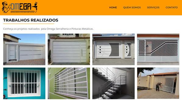 Imagens da terceira pagina do site Omega Serralheria criado por nós da SizeWeb