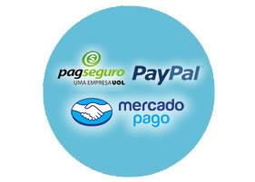 Integração com mercado pago, pagseguro e paypal