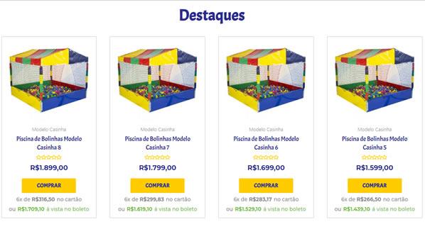 imagem da segunda pagina da loja online Paraiso Kids Brinquedos criada por nós da SizeWeb