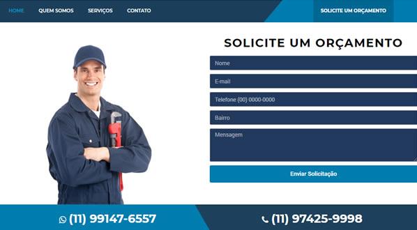 Imagem da terceira pagina do site MF Caça Vazamentos criado pela SizeWeb