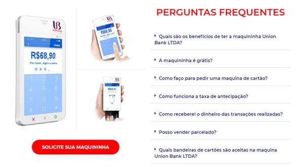 Imagem da terceira pagina do site Union Bank criado por nós da SizeWeb