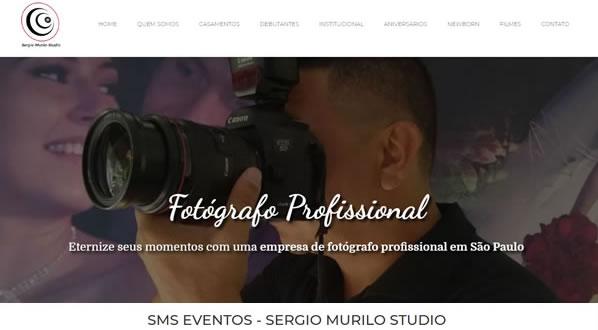 Imagem da primeira pagina do site SMS Eventos criado por nós da SizeWeb