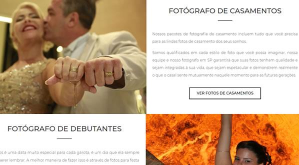 Imagem da segunda pagina do site SMS Eventos criado por nós da SizeWeb