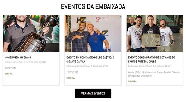 imagem da terceira pagina do site Embaixada Santos FC São Paulo criado por nós da SizeWeb