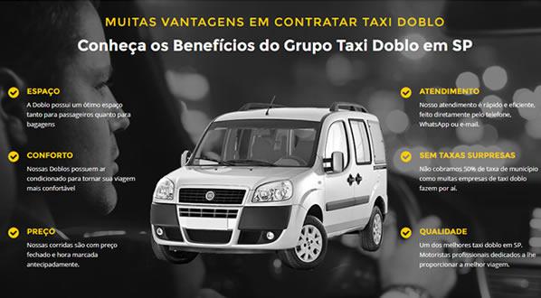 imagem da terceira pagina do site Grupo Taxi Doblô criado por nós da SizeWeb