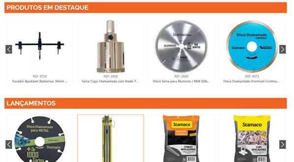 imagem da segunda pagina do site da Stamaco criado por nós da sizeweb