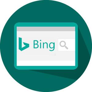 imagem com logo mecanismo de busca do bing