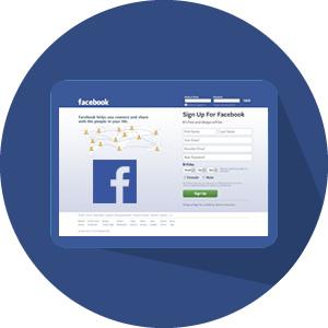 pagina de login facebook dentro de uma tela sendo apresentado