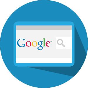 imagem com logo mecanismo de busca do google
