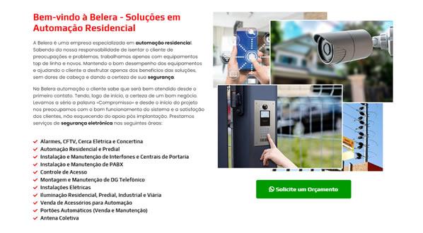 imagem da segunda pagina do site da Belera Automação criado por nós da sizeweb