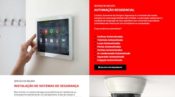 imagem da terceira pagina do site da Belera Automação criado por nós da sizeweb