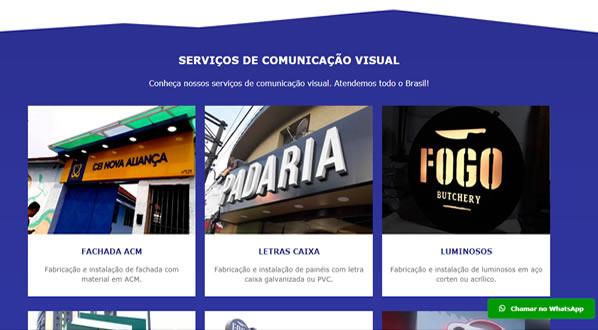 imagem da teceira pagina do site da LC Comunicação Visual criado por nós da sizeweb