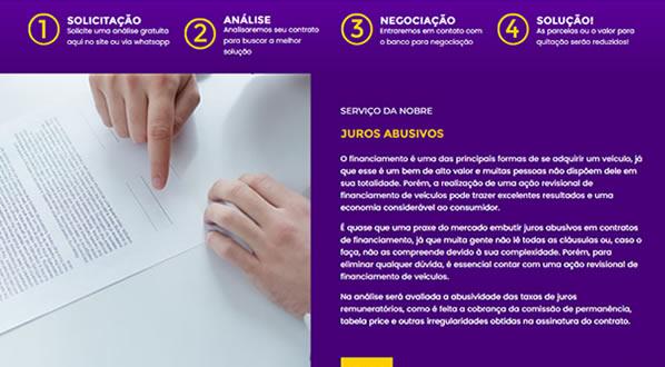 imagem da segunda pagina do site da Nobre Soluções criado por nós da sizeweb