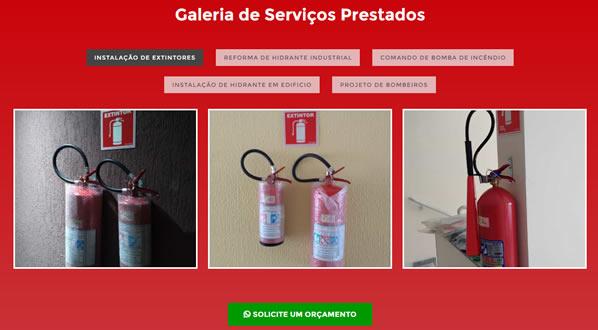 imagem da terceira pagina do site da SM Fire criado por nós da sizeweb