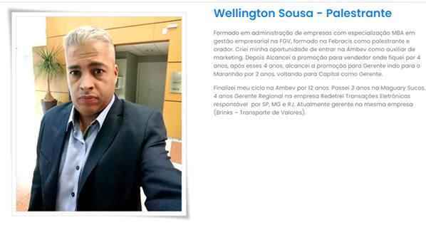 imagem da segunda pagina do site do Palestrante Wellington Sousa criado por nós da sizeweb