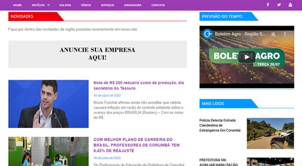 imagem da segunda pagina do site da Imprensa MS criado por nós da sizeweb