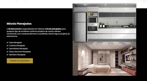 imagem da terceira pagina do site da GS Marcenaria criado por nós da sizeweb