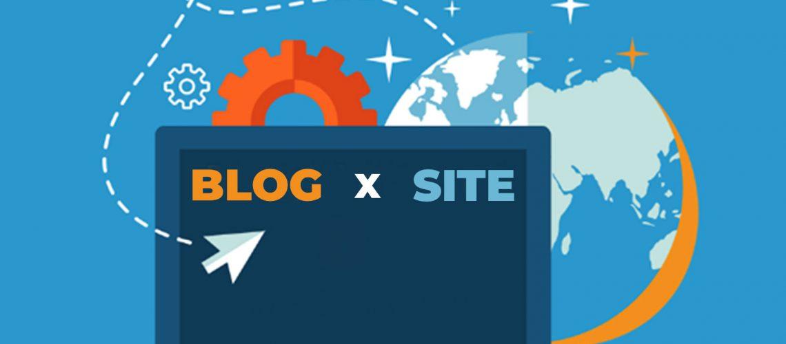 diferença blog e site